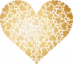Valentines Day gold heart 03 [преобразованный].png | Decoupage ...