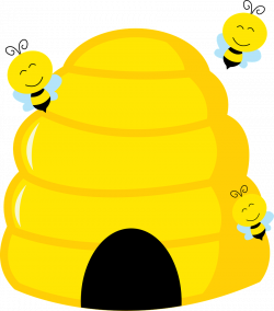 28+ Collection of Cute Beehive Clipart | High quality, free cliparts ...