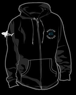 Get Your Boat Logo Full Zip Hoodie | Reels Of Fortune OBX