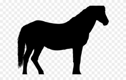 Horse Clipart Transportation - Horse Silhouette - Png ...