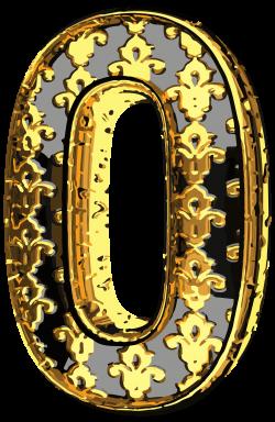 Elegant Vintage Number Zero PNG Clip Art Image | Gallery ...