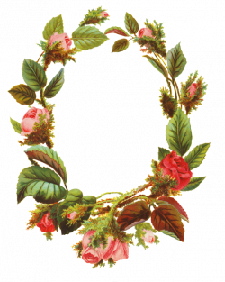A flower PNG with roses making a flower frame | Clipart | Pinterest ...