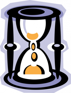 Hourglass or Sandglass Measures Time - Vector Image