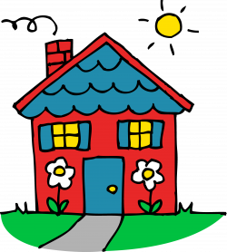 Charming Little Red House - Free Clip Art