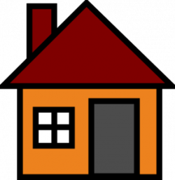 Orange House Clip Art at Clker.com - vector clip art online, royalty ...