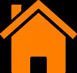 Simple Orange House Clip Art at Clker.com - vector clip art online ...