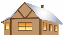 Winter Brown House PNG Clipart Image   Gallery Yopriceville - High ...