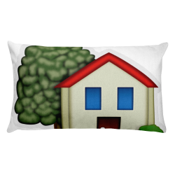Emoji Bed Pillow - House With Garden – Just Emoji