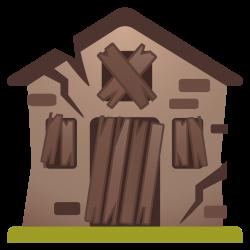 Derelict house Icon | Noto Emoji Travel & Places Iconset | Google