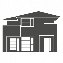 Modern house silhouette 2 - Transparent PNG & SVG vector