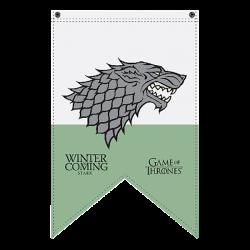 Game of Thrones - House Stark Pennant Flag - EB Games Australia