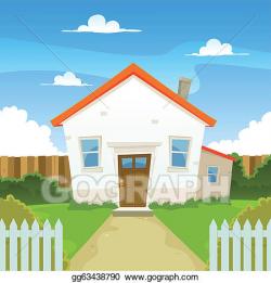Vector Clipart - House. Vector Illustration gg63438790 - GoGraph