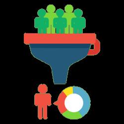 Funnel conversion concept - Transparent PNG & SVG vector