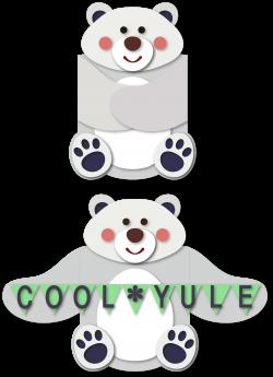 Polar bear arms hug card | SnapDragon Snippets