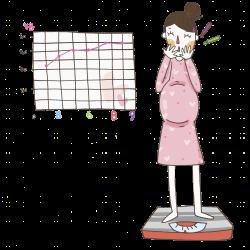 Pregnancy Human body weight u5b55u5987 Clip art - Weighing pregnant ...