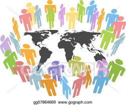Vector Illustration - Global human population earth issues ...