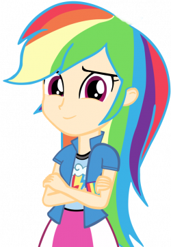 Human rainbow dash vector by cool77778-d65ehrk copia.png | Pinterest ...