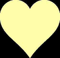 Yellow Heart Clip Art at Clker.com - vector clip art online, royalty ...