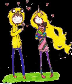 Jake and Lady Rainicorn Human Version by PinkiePieLovely on DeviantArt