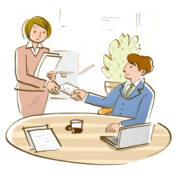 Drawing Office Businessperson Illustration - Working men and women ...