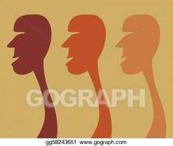 Vector Art - Queuing humans. . Clipart Drawing gg58243651 ...