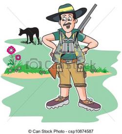 African Hunter Clipart