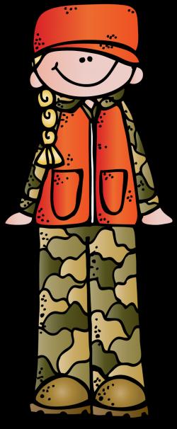 Woman hunter clipart