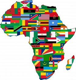 Africa flags by @Firkin, African outline filled with the flags of ...