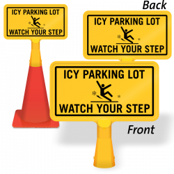 Ice Alert Signs - Watch Out For Ice Signs, Ice Warning Signs