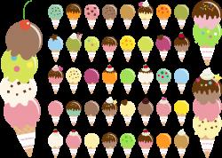 Clipart - Ice Cream Cones (#1)