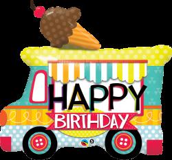 Happy Birthday Ice Cream Truck Mylar - Wild Child