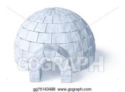 Stock Illustration - Igloo icehouse on white. Clipart ...