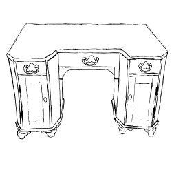 Antique Pine Desks — Pinefinders Old Pine Furniture Warehouse ...