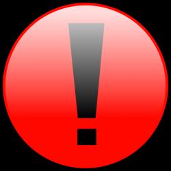 Warning Button Clip Art at Clker.com - vector clip art online ...