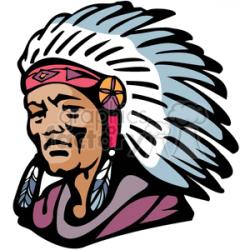Native American Navajo chief clipart. Royalty-free clipart # 374283