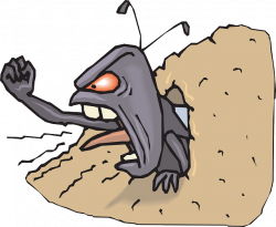 ANGRY, CARTOON, ANT, HOLE, HILL, FIST, UPSET, INSECT - Public Domain ...