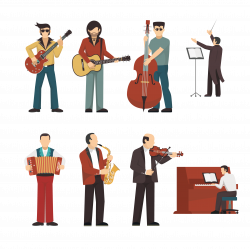 Musical instrument Musician Illustration - People playing musical ...