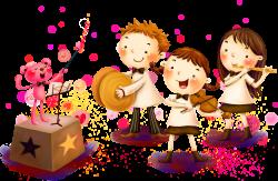 Musical instrument Child Music school Rhythm - Cartoon girl playing ...