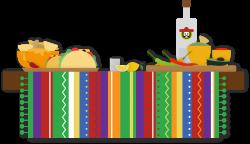 Margarita Mexican cuisine Wedding invitation Taco Tequila - A table ...