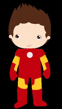 Minus - Say Hello! Iron Man little boy | Clipart & Pixel Art ...