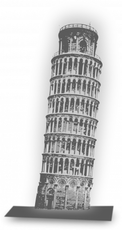 Clipart - Leaning Tower of Pisa