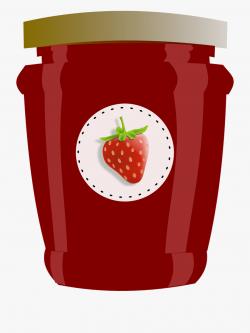 Strawberry, Jar, Jam, Jelly, Preserves, Label - Jam Clipart ...