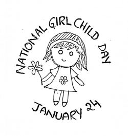National Girl Child Day January 24 Clipart