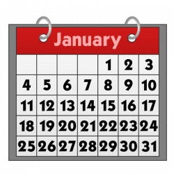 Clipart - Calendar icon with binder rings