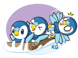 Daily Drawing 2016 #4: Sled Full of Piplups by howlingwolf142 on ...