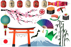 Japanese & Asian Clipart Vector, PNG ~ Illustrations ~ Creative Market