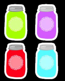 Colorful Mason Jar Tag Collection FREE Printable | Mason jar tags ...