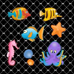Cartoon Sea Animals PNG Transparent Cartoon Sea Animals.PNG Images ...