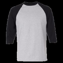 ¾ Sleeve Raglan Baseball T-Shirt - Custom T Shirts Printing | DLV ...