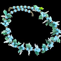 Vintage Venetian Italy Blue Glass Birds Necklace: The vintage ...
